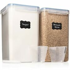 XXL 7 qt / 6.5 L Food Storage Airtight Pantry Containers [Set of 2] WIDE & DE...