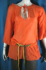 MISS SIXTY Taille S - 36 Superbe tunique orange vif femme manches 3/4 tunic