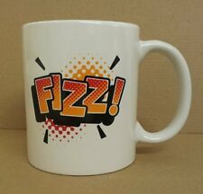 Retro FIZZ Slogan MUG -  Great Office Gift - Ceramic Mug in WHITE