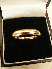 18 CARAT YELLOW GOLD 3MM HEAVY COURT SHAPE WEDDING RING MADE BY B&N BRAND NEW
