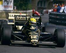 Senna Di Ayrton JPS Lotus Monaco 10x8 Foto