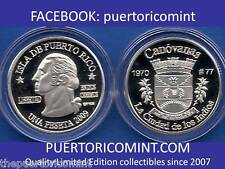 Silver PESETA CANOVANAS 2009 Puerto Rico Boricua Quarter 1/100 Plata