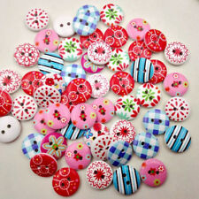 New 100Pcs Sewing Plastic Round Buttons 2 Holes for Kid Craft  Multicolor #AM8