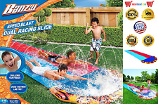 Banzai Slip N and Slide Dual Double Racer 2 Lane Kids 16 Foot Water Slide NEW US