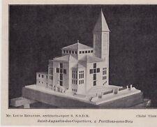 1934  --  MAQUETTE DE SAINT AUGUSTIN DES COQUETIERS A PAVILLONS SOUS BOIS  3G028