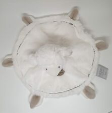 Doudou et Compagnie mon tout petit mouton agneau blanc taupe plat rond NEUF