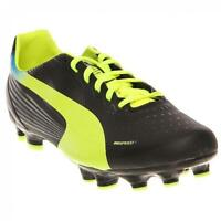 Puma 102880 EvoSpeed 3.2 FG JR Athletic Soccer Shoes Cleats Black Yellow Youth