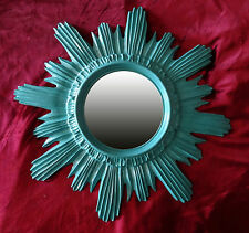 Sun Sun Wall Mirror Round Mirror in Jade Green Baroque Antique Style NEW