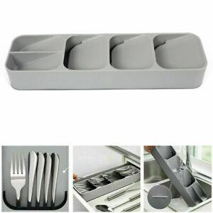Cutlery Utensil Drawer Organiser Spoon Divider Kitchen Tidy Tray Holder Storage
