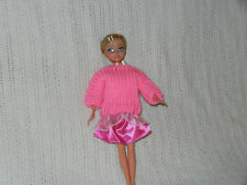 Handmade for Barbie Sweater Hot Pink doll clothes fit Sparkle Girlz and other d
