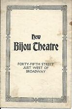 RARE 1917 THE BIJOU THEATER opening night  Program & 2 Ticket Stubs THE KNIFE