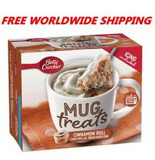 Betty Crocker Cinnamon Roll Mix Mug Treats with Icing  WORLDWIDE SHIPPING