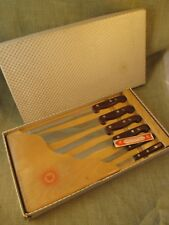 Vintage Henckels Superfection Line 6 piece Knife Set with Wooden Tray