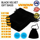 Black Velvet Pouch Drawstring Bags Wedding Favours Gift Party Jewellery Packing <br/> OVER 3600+ SOLD! MELBOURNE STOCK! TRUSTED AU SELLER! 😎