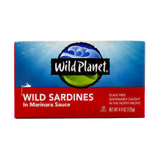 (14 Pack) Wild Planet Sardines In Marinara Sauce 4.3 oz Each Exp 8/2022