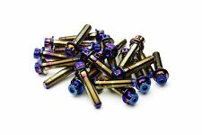80x Neo Chrome Split Rim Bolts M7 x 32mm BBS RS OZ Wheel 10.9 High Tensile Steel