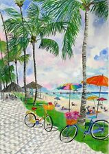 """Bicycles With Baskets Jigsaw Puzzle 1000 pieces - Original Artwork 30"""" x 24"""""""
