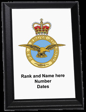 Personalised Wall Plaque - Royal Air Force crest current style, RAF