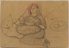 "Hans Strohofer ""Portrait of the Silent Movie Star Maria Karsten"", Drawing, 1913"