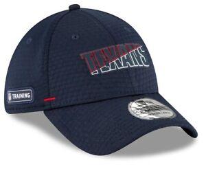 Houston Texans New Era 2020 Navy Training Camp 39Thirty Flex Fit hat cap L/XL