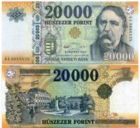 HUNGARY 20,000 20000 FORINT 2015 P 207 UNC