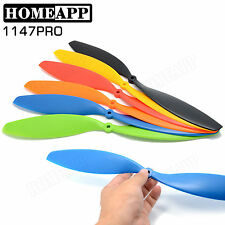 6 Pairs 11X4.7 propeller prop Blade CW/CCW For Quadcopter helicopter 6 Colors