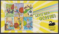 2010 Lets Get Active Mini Sheet - Overprint Swan River Stamp Show Crawley