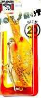 🌟 Vintage Luhr- Jensen Size 20 Hot Shot Yellow Sliver Glitter Fishing Lure #901