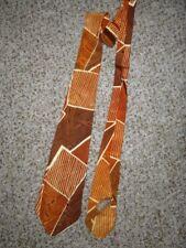 """Vintage 1940's Arrow Art Deco Necktie Brown/Rust 4"""" wide"""