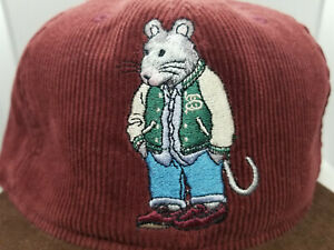Vintage Stussy Hat Rat Excellent condition Extremely Rare Suede Leather Huf Dior