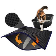 Foldable Double-Layer Cat Litter Mat Waterproof Pad Pet Rug Eva Foam Trapper Pad