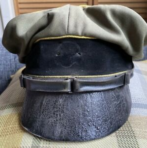 WW2 German Cap/Crusher Cap To An Elite Division NCO - Aged  Repro In Large Size