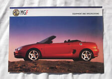 MGF Equipment and Specifications Sales Brochure MG F