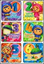Team Umizoomi Stickers x 6 - Foil Design - Happy Birthday Party Favours Counting