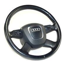 Audi A6 4F A8 4E Q7 4L Leather Steering Wheel Black 4-Speichen Mfa With Airbag