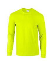 Seguridad Verde Adulto Gildan Manga Larga Ultra Algodón t-shirt-mens Suéter