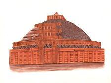 Sanchi Buddhist Stupa Painting Handmade Indian Buddha Monument Historical Art
