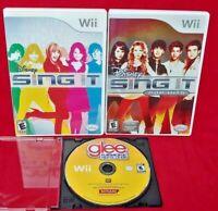 Disney Sing It + Pop Hits + Glee Karaoke Revolution Lot Nintendo Wii / Wii U