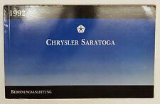 Betriebshandbuch Chrysler Daytona 1992 -deutsch-