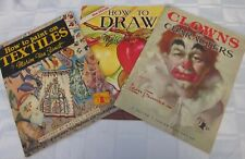 3 Walter Foster Art Books How to Draw How to Paint Textiles How to Draw Clowns