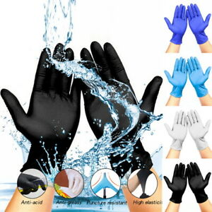 1 Pair Disposable Nitrile Latex Protective Gloves Tattoo Food Mechanic