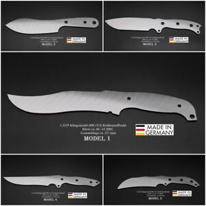 Messerbau Rohling Messerstahl Messerklinge Klingenrohling Jagdmesser - 33 Model
