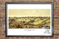 Vintage Toledo, OH Map 1876 - Historic Ohio Art - Old Victorian Industrial