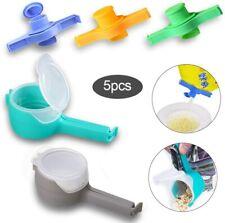 5PACK/Set Food Snack Storage Seal Sealers Pour Storage Bag Clips Sealing Sticker
