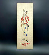 AMERICAN INDEPENDECE Needlepoint Cross Stitch 1776 CONTINENTAL ARMY SOLDIER VTG
