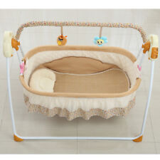 Electric baby cot, balcony bed Nap with music function, vibration music timer