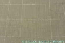 E25 DELUXE SUPER FINE 150's PURE VIRGINE WOOL LIGHT GREY CHECK MADE IN ITALY