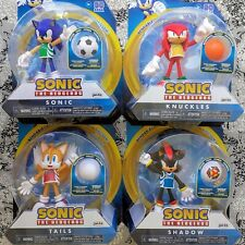 Sonic the Hedgehog 4-Inch Bendable Action Figures - Sonic Knuckles Tails Shadow