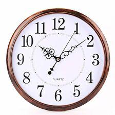 12 Inch Vintage Retro Silent Quartz Movement Round Wall Clock Home Office Decor