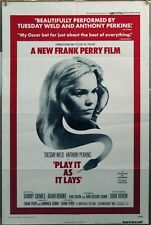 PLAY IT AS IT LAYS ORIGINAL '72 Poster Tuesday Weld Anthony Perkins Tammy Grimes